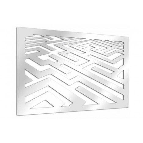 Miroir adhésif design labyrinthe - 3 dimensions -