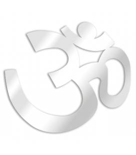 Miroir symbole bouddhiste Aum - 3 dimensions