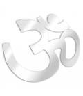 Miroir symbole bouddhiste Aum - 3 dimensions -