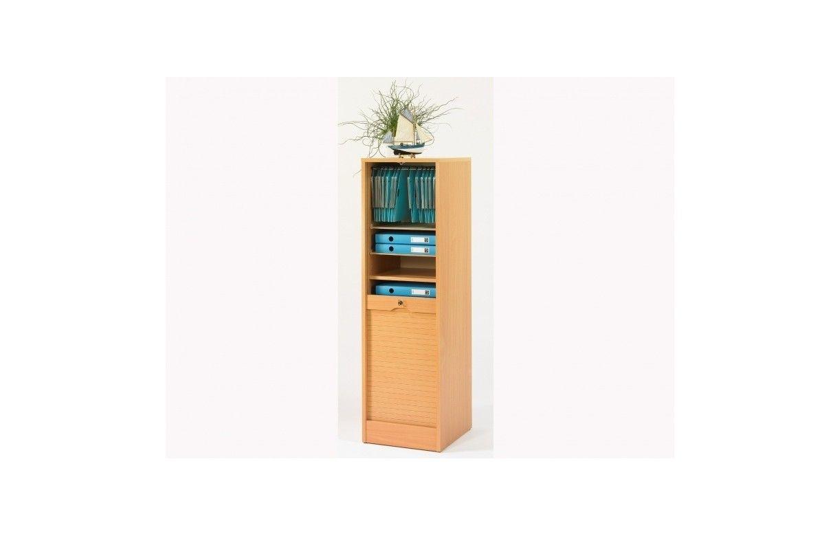 Rangement de bureau rideau 110 cm 5 coloris for Meuble rangement 110 cm