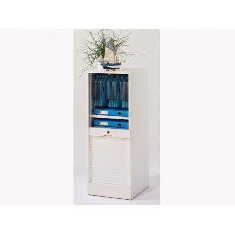 Rangement classeur à rideaux 110 cm - 5 coloris -