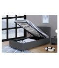 Lit double avec coffre et tête de lit intégrée DIVA - 5 coloris