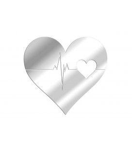 Miroir adhésif cœur battement - 5 dimensions