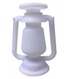 Lampe tempête blanche rechargeable par USB