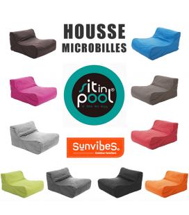 Housse de pouf fauteuil de piscine SitInPool à microbilles