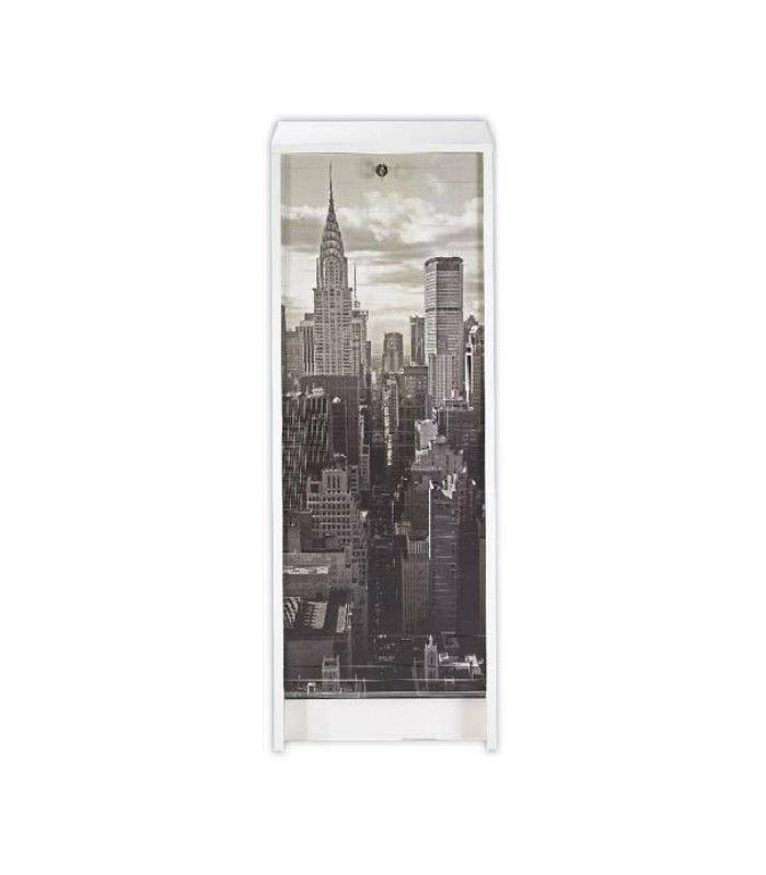 Rangement De Bureau New York City 105 Cm Pas Cher