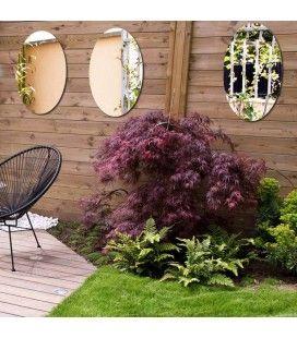 Lot 3 miroirs extérieur de jardin ovale 60m