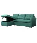Canapé d'angle réversible et convertible en tissu Timy - 4 coloris