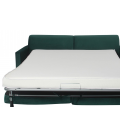 Canapé convertible tissu velours matelas intégré Smart - 4 coloris