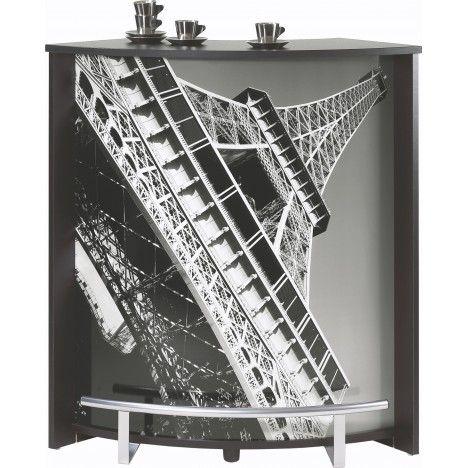 Comptoir blanc noir ou bois clair Paris Tour Eiffel -