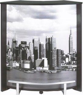 Comptoir de bar bois clair blanc ou noir NEW YORK -