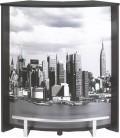 Comptoir de bar bois clair blanc ou noir NEW YORK