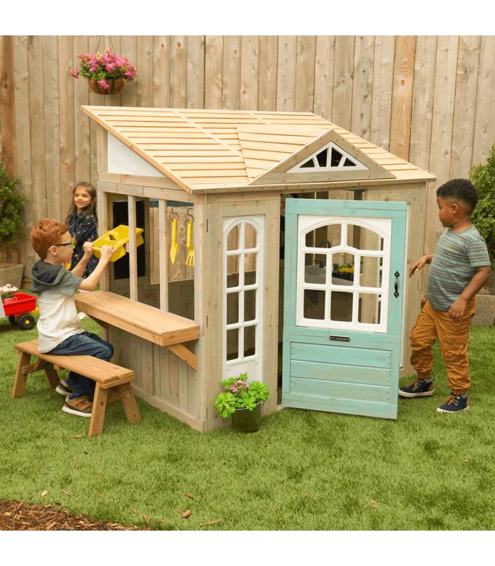 Maison de jardin pour enfants en bois style épicerie