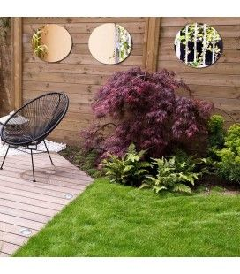 Lot 3 miroirs de jardin rond extérieur 40cm