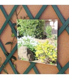 Miroir de jardin à coller carré 40cm