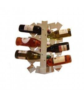 Porte bouteilles design en miroir carré
