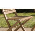 Chaises en bois massif clair d'extérieur lot de 2