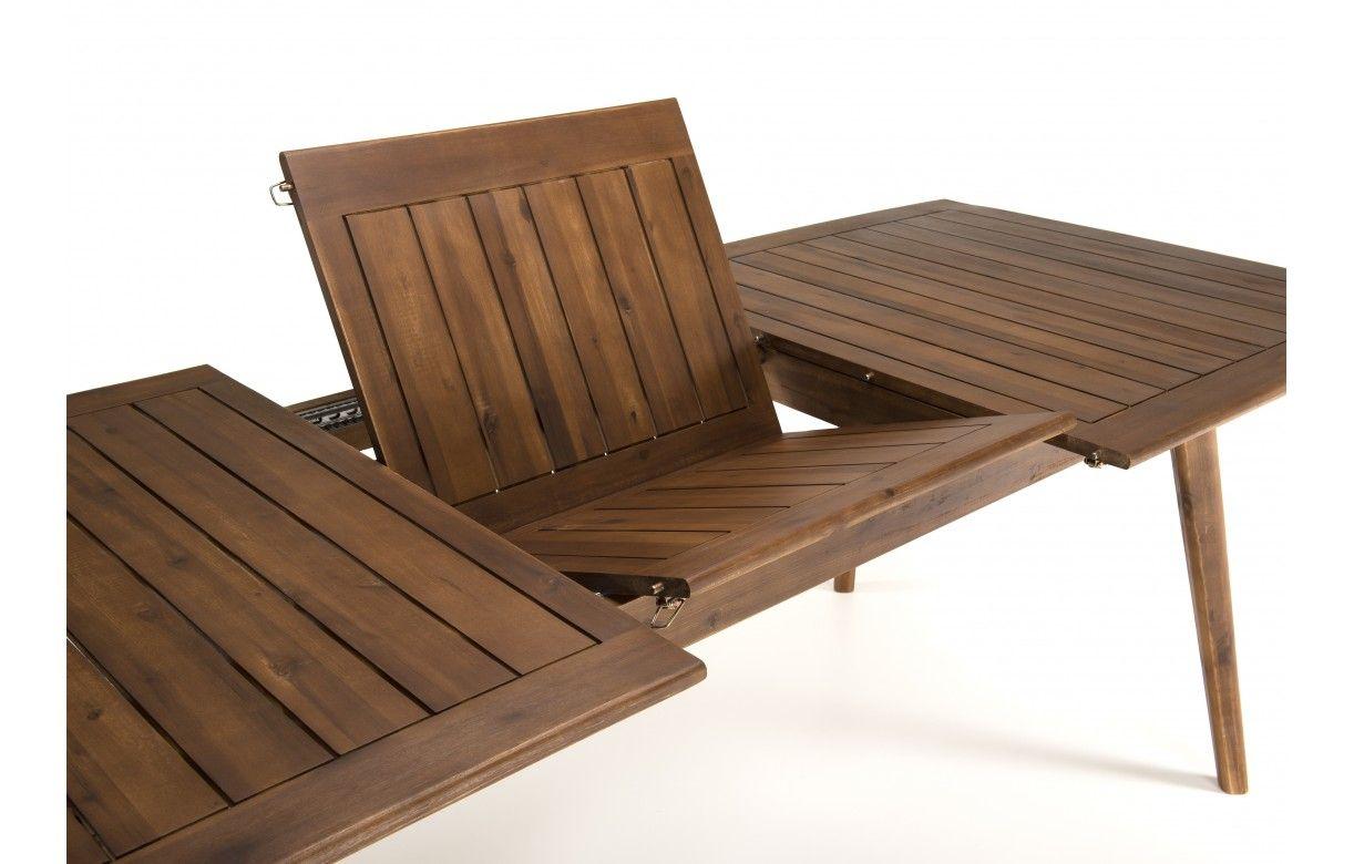 Table de jardin extensible + 6 chaises rotin et acacia NANG - Decome ...