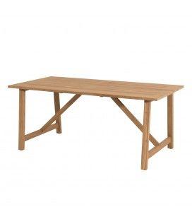 Table de jardin 180 X 90cm en teck massif clair PALU