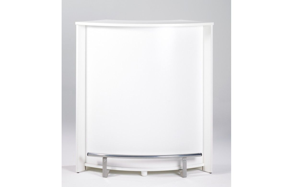 Comptoir bar blanc cuisine ou accueil avec rangement for Meuble bar comptoir design