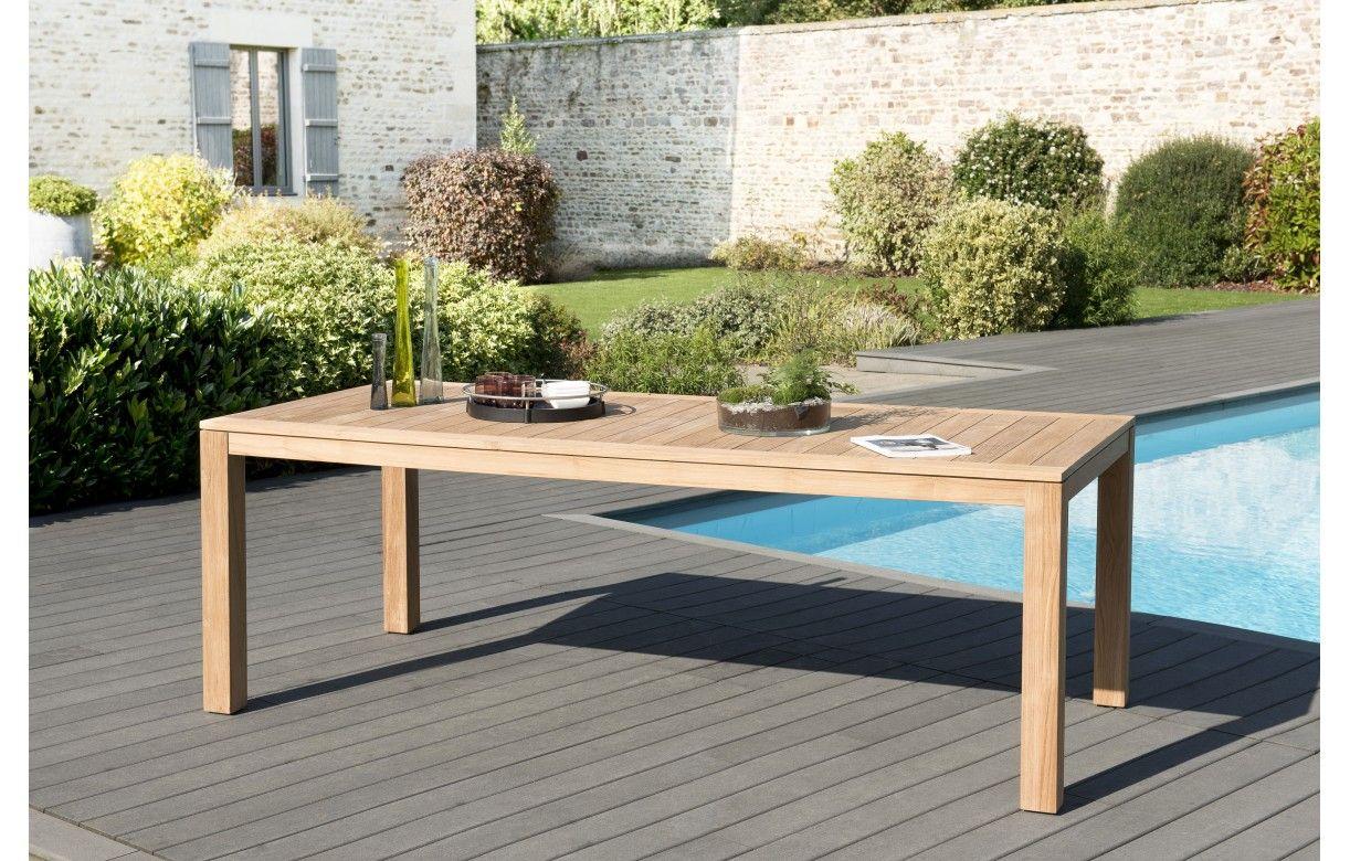 Ensemble de jardin avec grande table et 6 chaises en bois ...