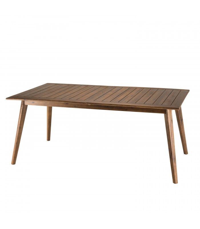 Table de jardin extensible 180/240x100cm en bois d\'Acacia NANG