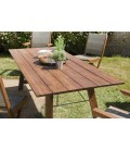 Table d'extérieur pliable 220x90cm bois Acacia massif VICK
