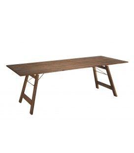 Table de jardin pliante 220x90cm en bois d'Acacia NANG