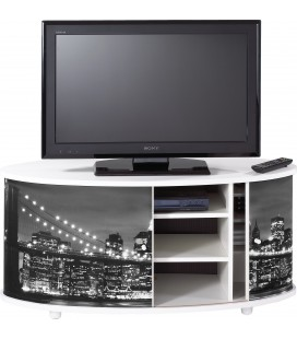 Meuble TV blanc ou noir NEW YORK -