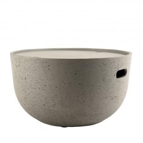 Table basse ronde 58x58cm béton