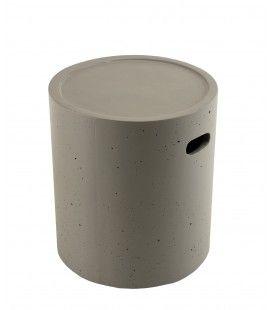 Table d'apoint ronde 40x40cm béton