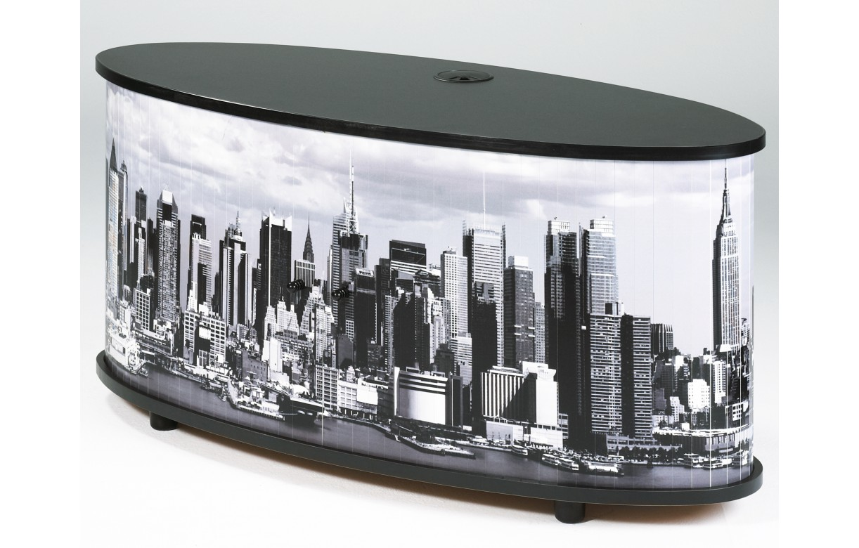 Meuble Tv Noir Ou Blanc Panorama Decome Store # Meuble Tv New York