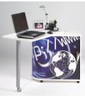 Bureau informatique noir ou blanc pivotant WEB -