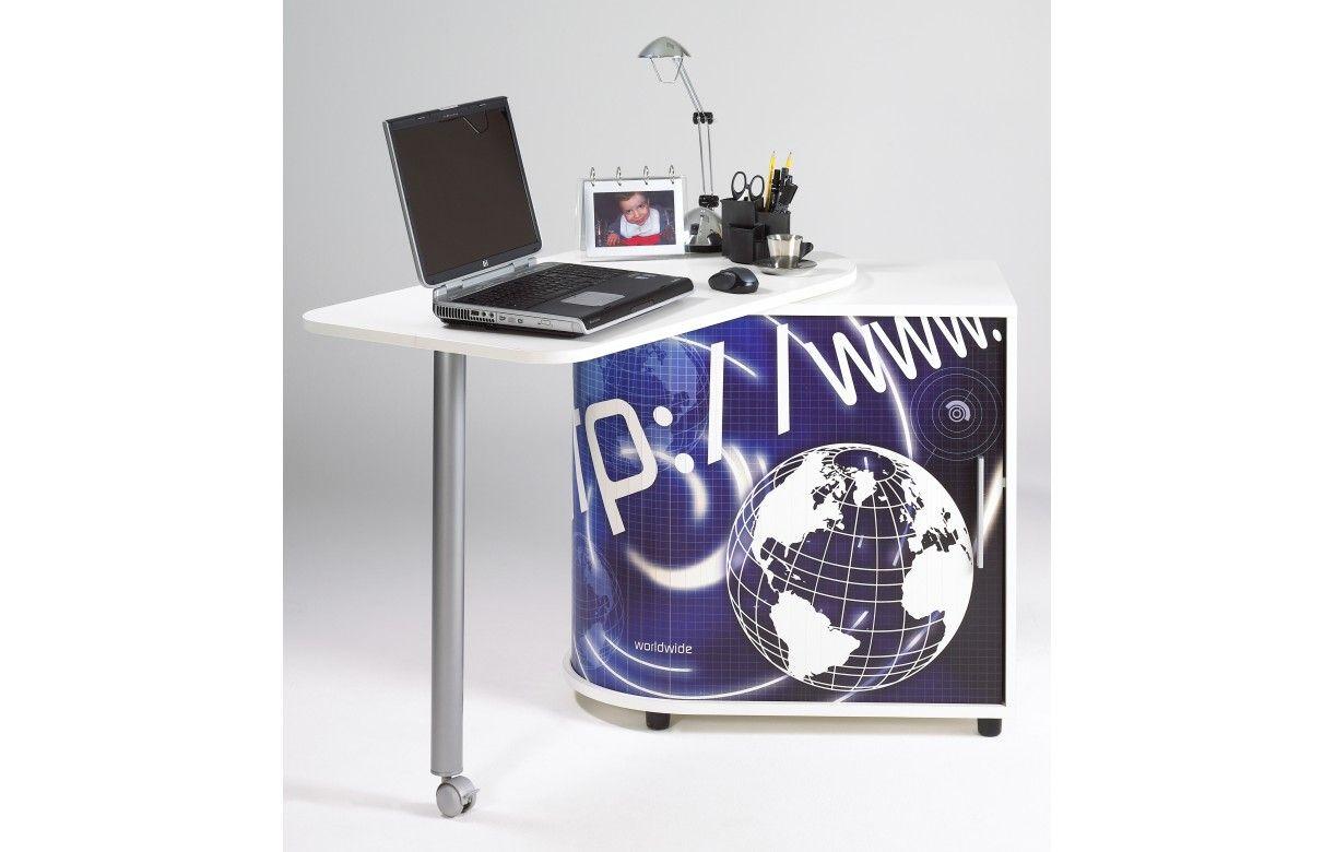 Lina assise noire résille noire chaise de bureau structure blanche
