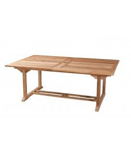 Table rectangulaire 200/300 x 120 cm gamme FUN