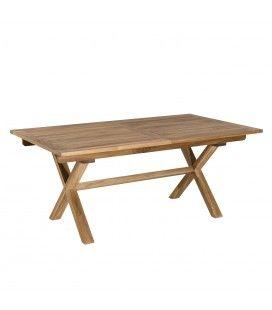 Table rectangulaire pieds croisés extensible 180/240x100cm gamme FUN