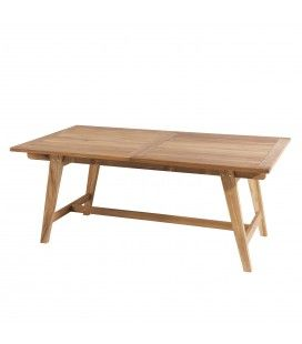 Table rectangulaire scandi extensible 180/240x100cm gamme FUN