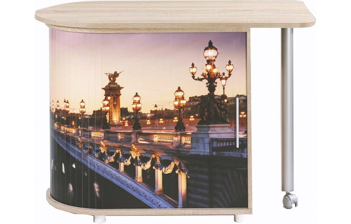 Bureau Informatique Pivotant 3 Coloris Paris Decome Store # Meuble Informatique Avec Ecran Retractable Electrique