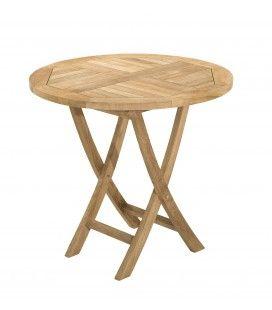 Table ronde pliante 80 x 80 gamme FUN