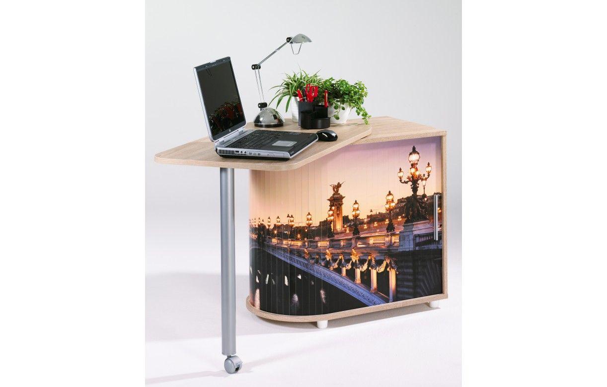 bureau informatique pivotant 3 coloris paris decome store. Black Bedroom Furniture Sets. Home Design Ideas