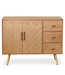 Buffet design en bois 2 portes + 3 tiroirs JOHNNY