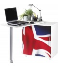 Bureau pivotant informatique noir ou blanc LONDON -