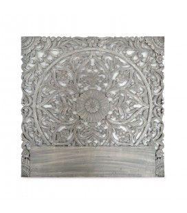 Tête de lit en bois gris 140 cm CONCORDIA