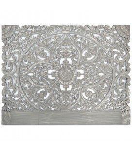 Tête de lit en bois gris 180 cm CONCORDIA