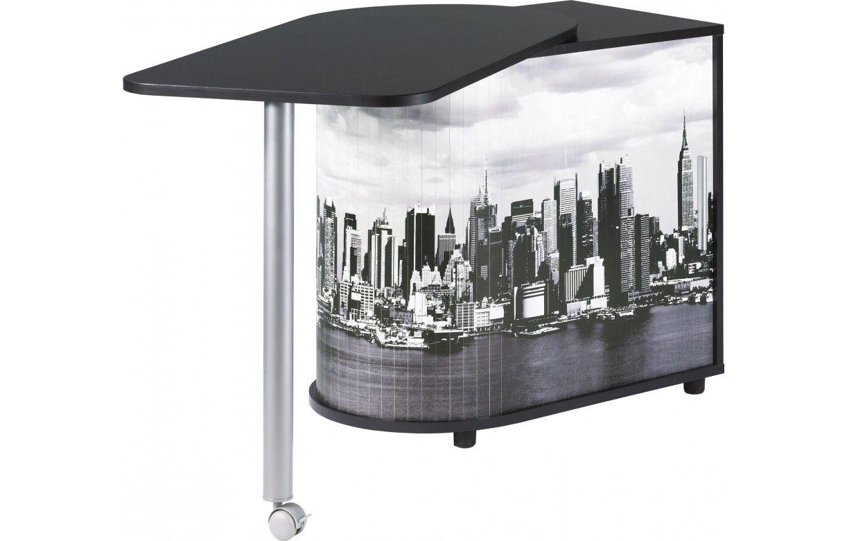 bureau pivotant informatique blanc ou noir new york. Black Bedroom Furniture Sets. Home Design Ideas