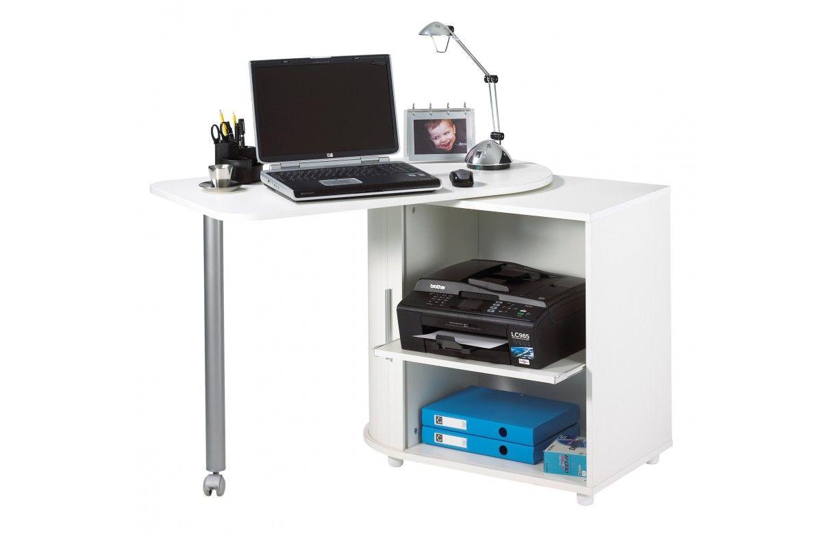 Bureau Informatique Taupe Pivotant 5 Coloris Decome Store # Meuble Informatique Avec Ecran Retractable Electrique