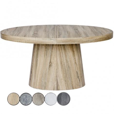 Table Ronde Extensible 3 Rallonges En Bois 5 Coloris Decome Store