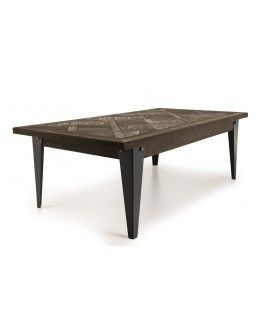 Table basse bois vintage rectangulaire 120x65cm Olivia