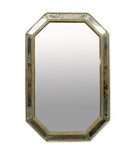Miroir Rectangle doré