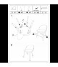 Chaise Ingrid orange terracotta - Lot de 2 -